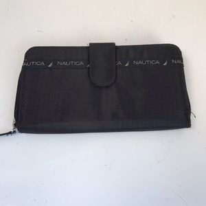 Nautica RFID protection wallet black canvas